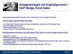 anlagestrategie mit kapitalgarantie s p hedge fund index