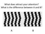 what does attract your attention what is the difference between a and b
