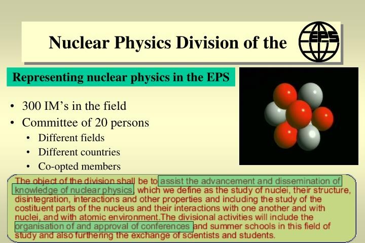 nuclear physics division of the n.