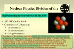 nuclear physics division of the
