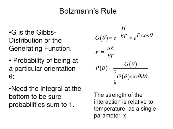 Bolzmann's Rule