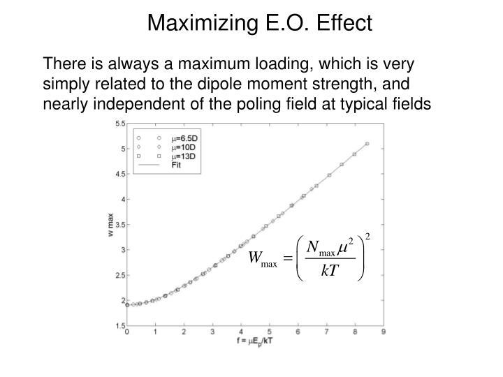 Maximizing E.O. Effect