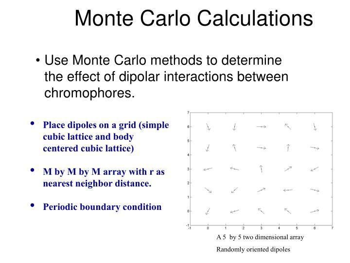 Monte Carlo Calculations