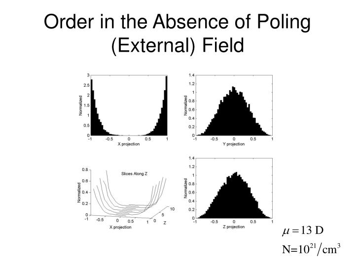 Order in the Absence of Poling (External) Field