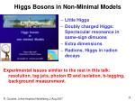 higgs bosons in non minimal models