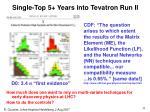 single top 5 years into tevatron run ii