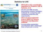statistics for lhc