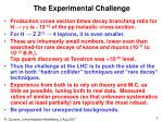 the experimental challenge