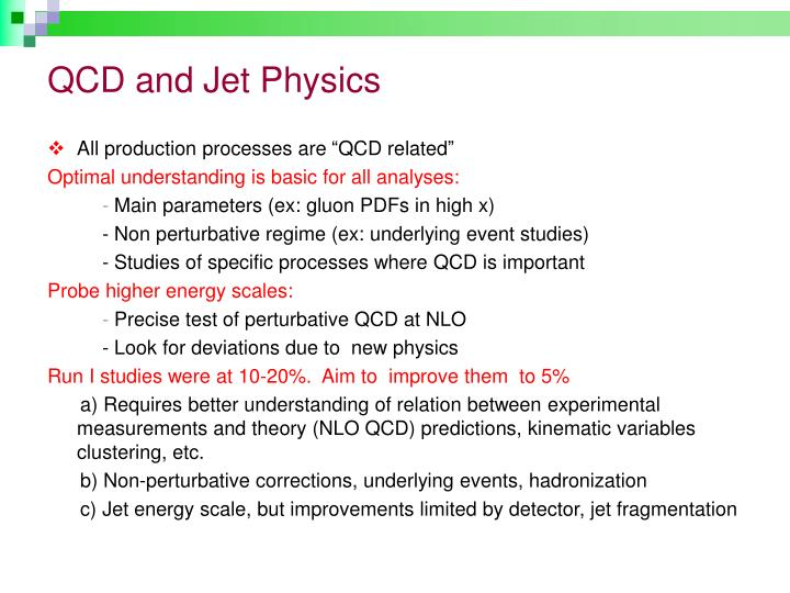 Qcd and jet physics