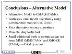 conclusions alternative model
