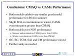 conclusions cmaq vs camx performance