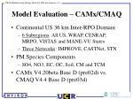 model evaluation camx cmaq