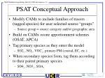 psat conceptual approach