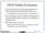 psat sulfate evaluation