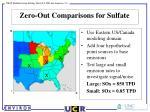 zero out comparisons for sulfate
