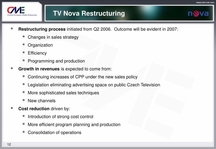 TV Nova Restructuring