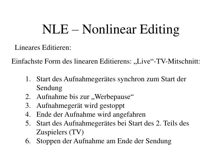 Nle nonlinear editing1