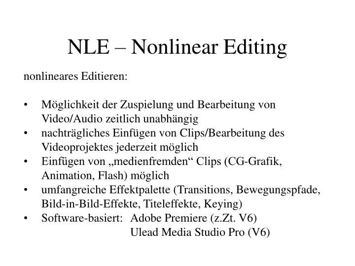 Nle nonlinear editing2