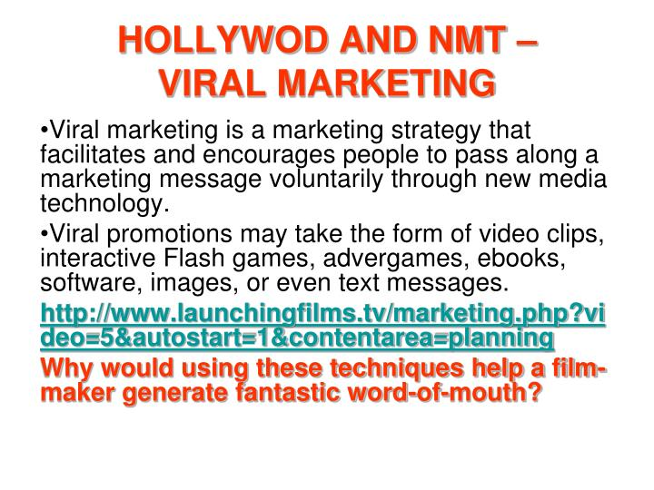 HOLLYWOD AND NMT –