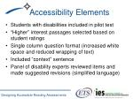 accessibility elements
