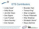 ets contributors