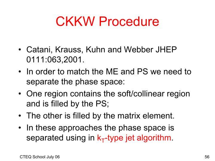 CKKW Procedure