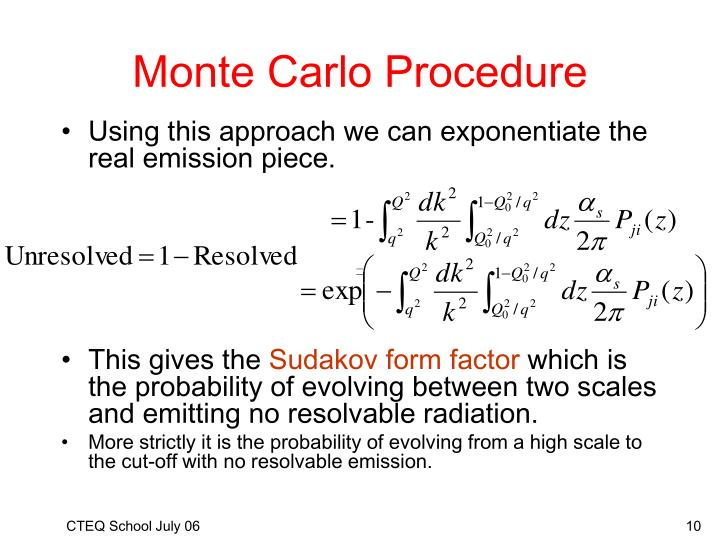 Monte Carlo Procedure