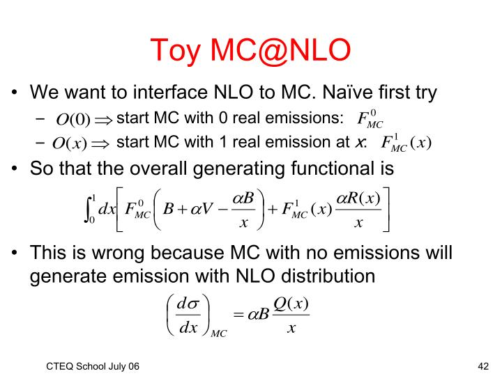 Toy MC@NLO