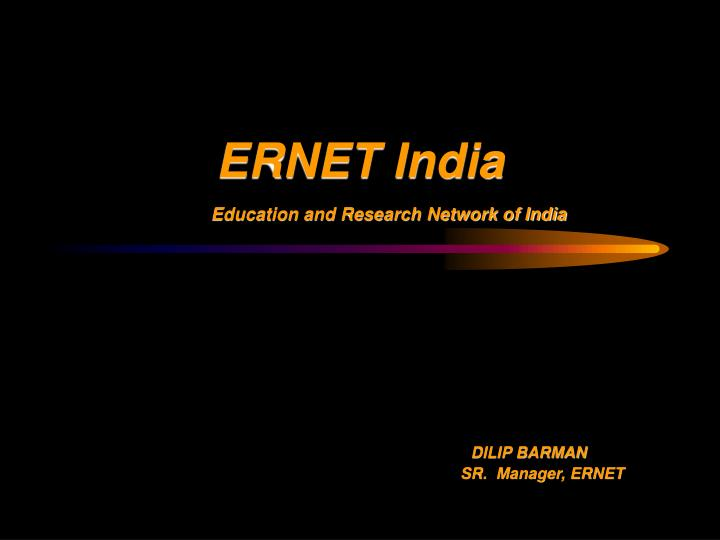 Ernet india