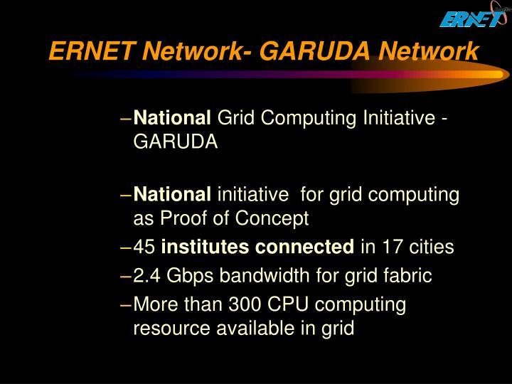 ERNET Network- GARUDA Network