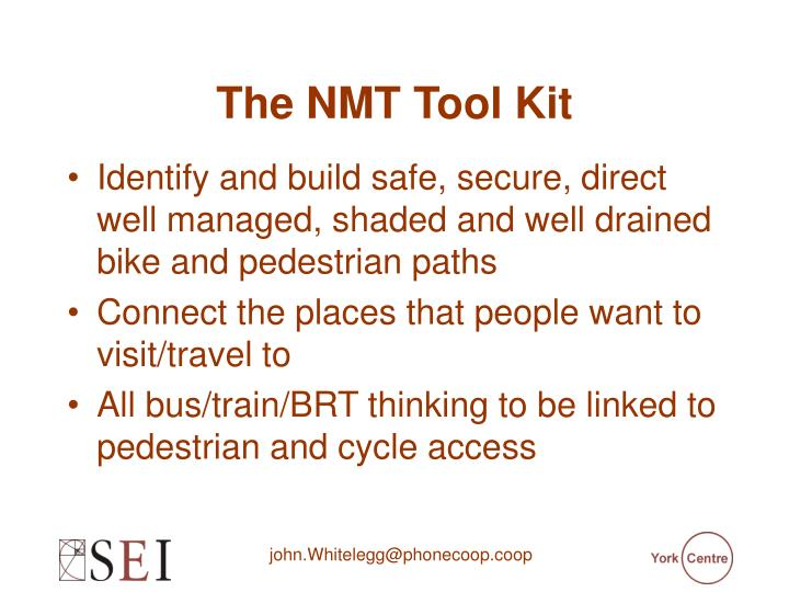 The NMT Tool Kit