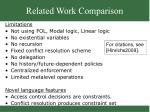 related work comparison