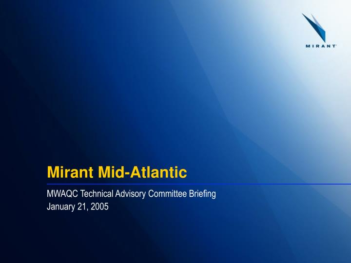 Mirant mid atlantic