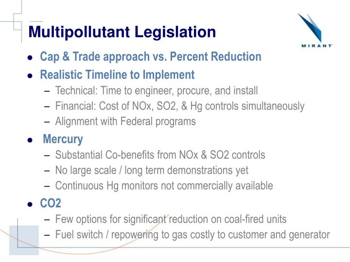 Multipollutant Legislation