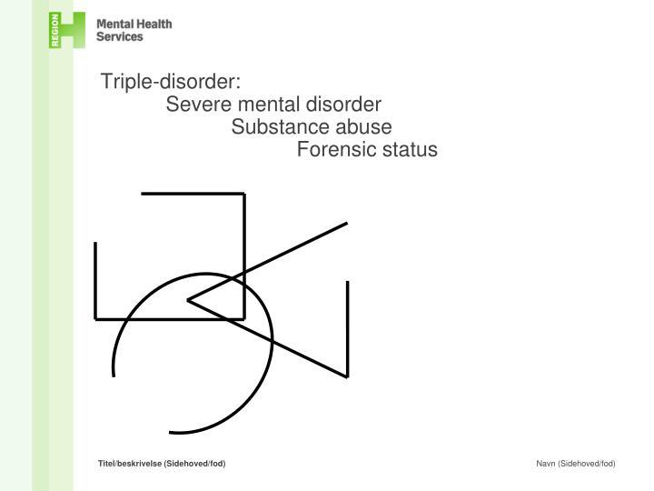 Triple disorder severe mental disorder substance abuse forensic status