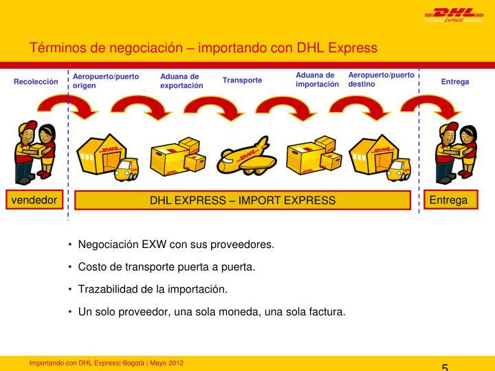 Términos de negociación – importando con DHL Express
