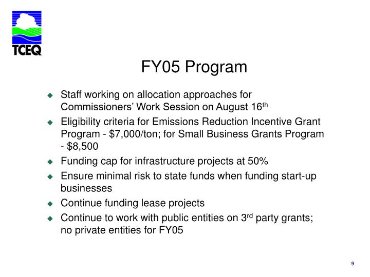 FY05 Program