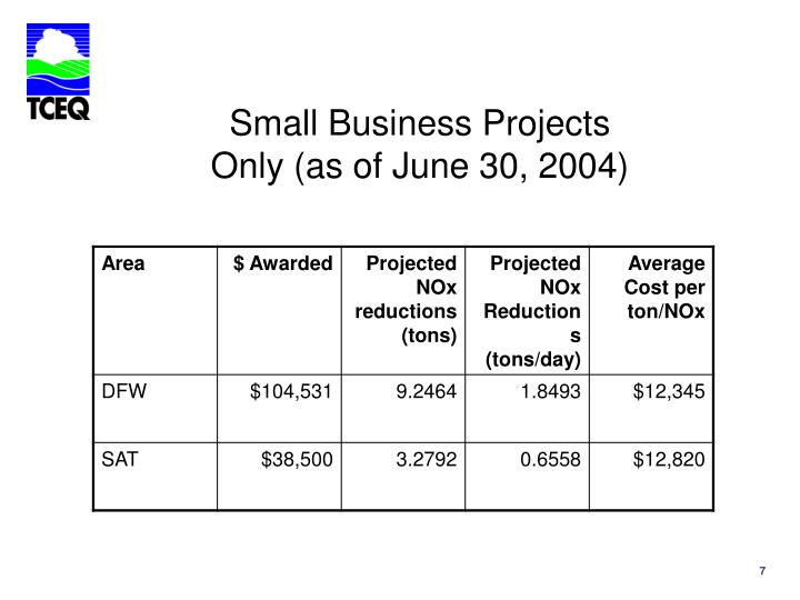 Small Business Projects