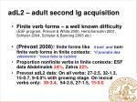 adl2 adult second lg acquisition