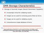 omr storage characteristics1