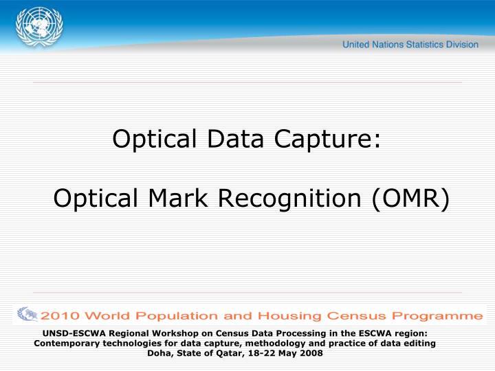 optical data capture optical mark recognition omr n.