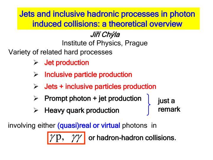 Jet production