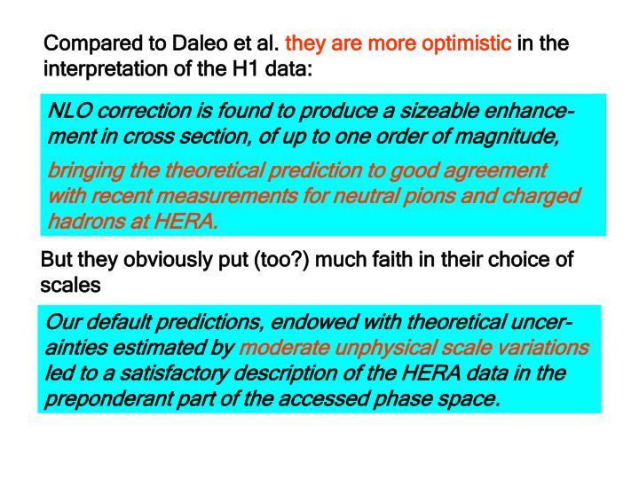 Compared to Daleo et al.
