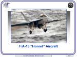 f a 18 hornet aircraft