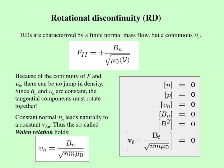 Rotational discontinuity (RD)