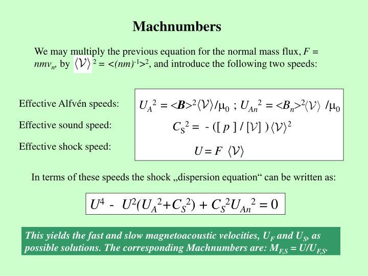 Machnumbers