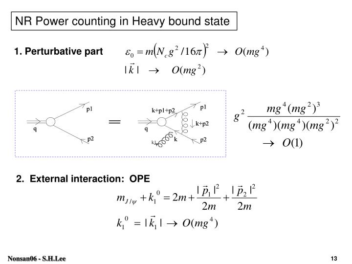 NR Power counting in Heavy bound state