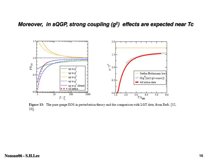 Moreover,  in sQGP, strong coupling (g