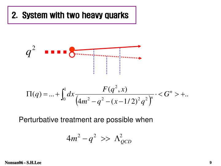 2.  System with two heavy quarks