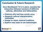 conclusion future research